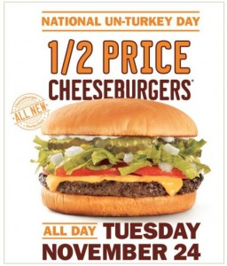 Score 1/2 Price Cheeseburgers at Sonic all day today!