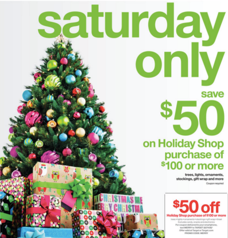 target 50 off christmas decor 100 or more free shipping