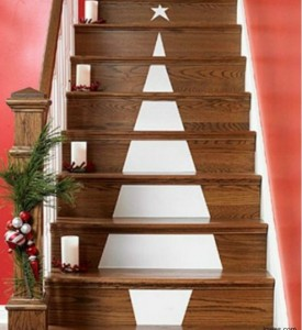 Christmas tree stairs