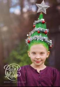 Christmas tree hair