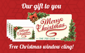 Snag a FREE Merry Christmas window cling today!