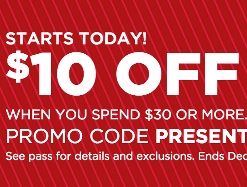 Kohl's.com: $10 Off $30 Online Purchase!