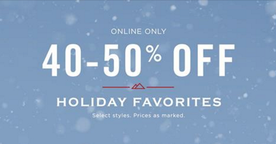 American Eagle Outfitters: 40% to 50% Off Holiday Favorites & Extra 50% Off Clearance!