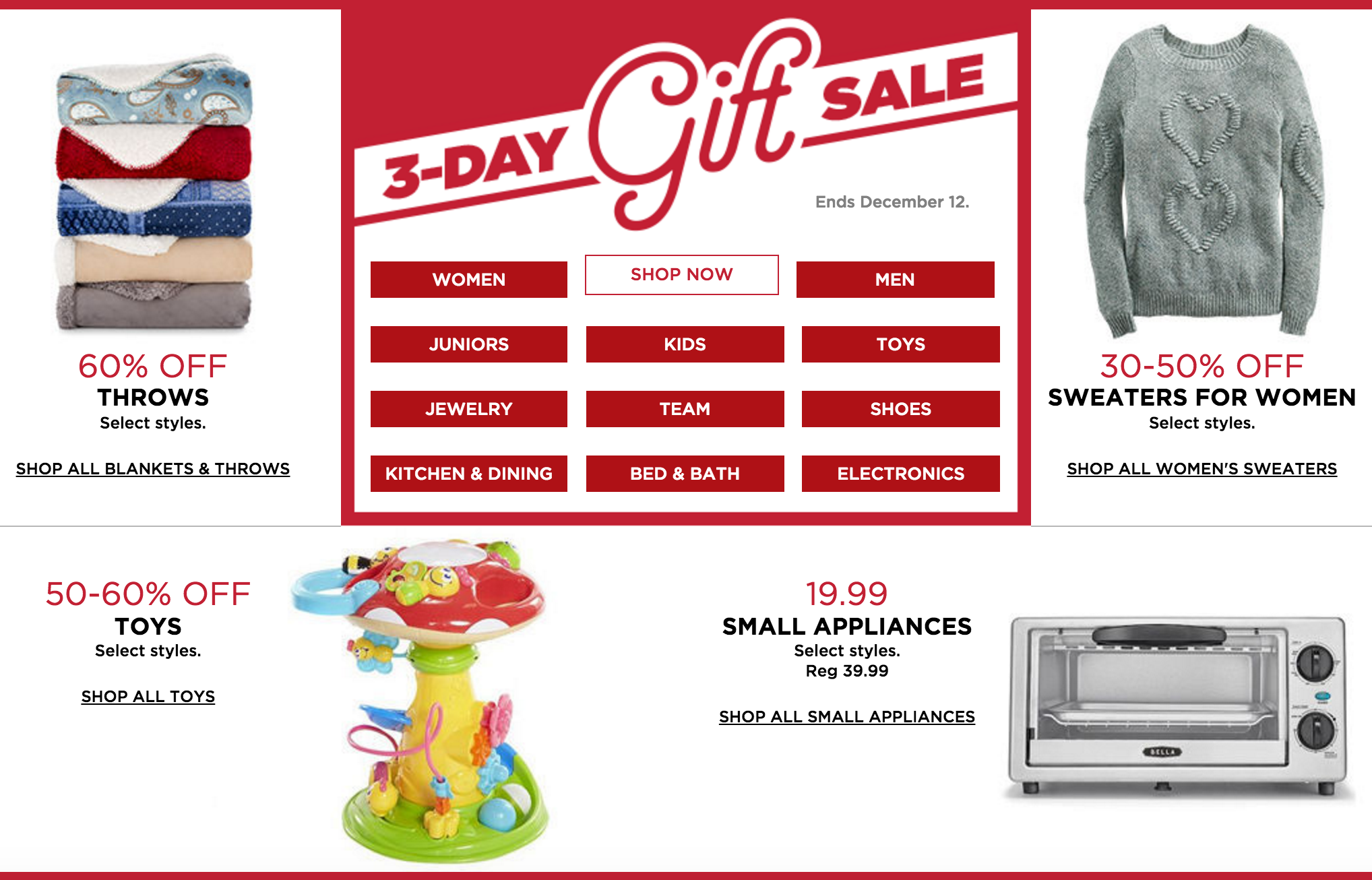 Kohl's: LAST DAY of 3-Day Gift Sale + Stackable Promo Codes!