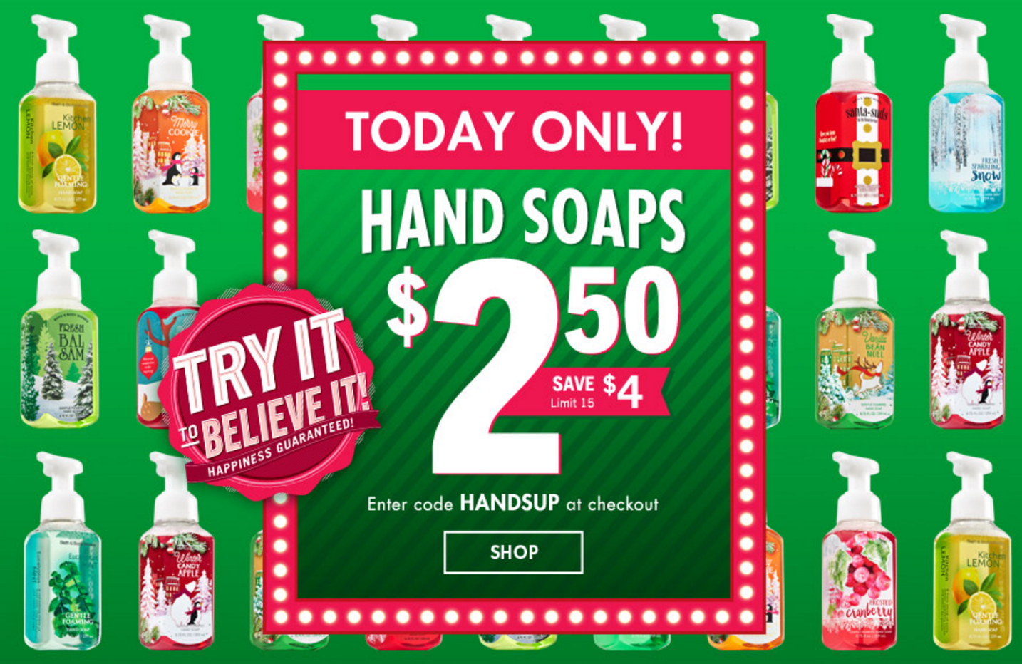 Bath & Body Works: ALL Hand Soaps Only $2.50 (Reg. $6.50!) – Today Only!