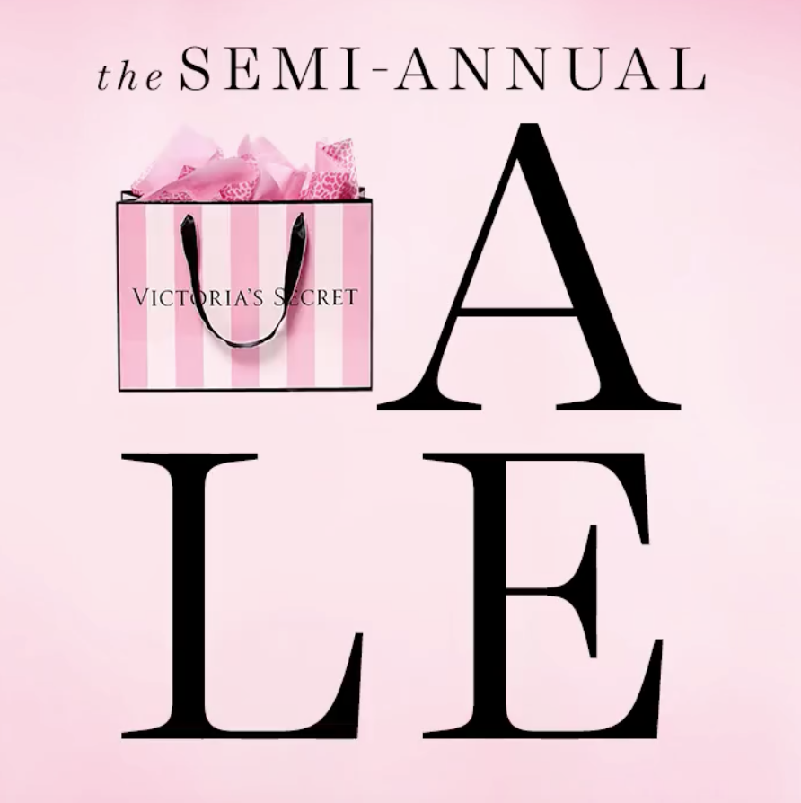 Victoria's Secret Semi-Annual Sale = BIG Savings on Bras, Sleepwear, Clothing, Panties!