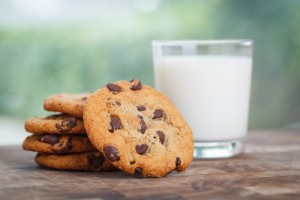 Snag a FREE chocolate chip cookie today. Yum! Via Shutterstock.