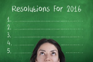 New Year's Resolutions via shutterstock