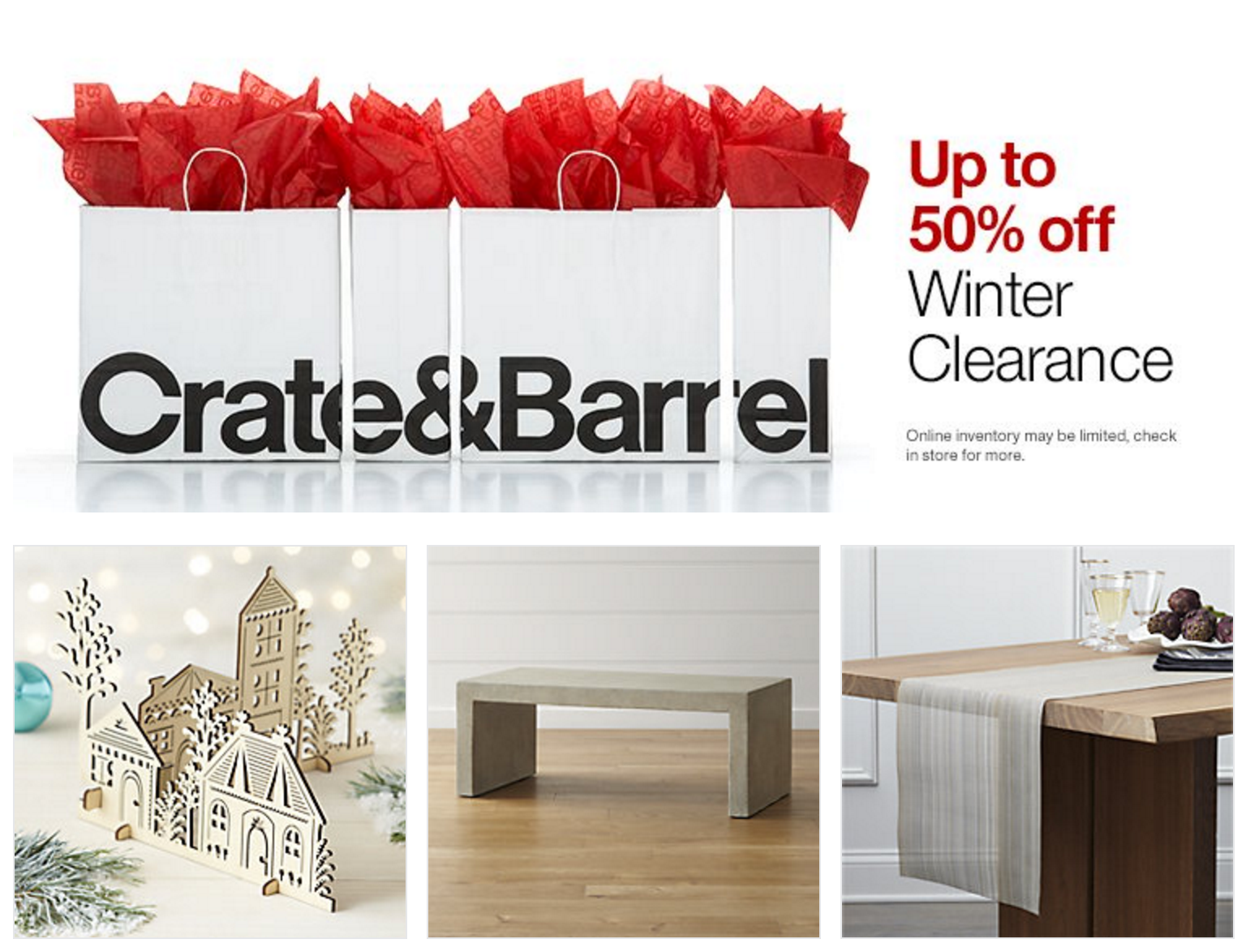 Crate and barrel c