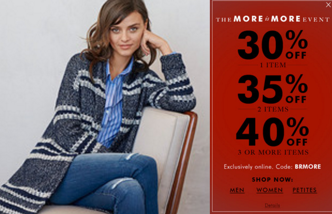 Banana Republic: 40% Off 3 Items!