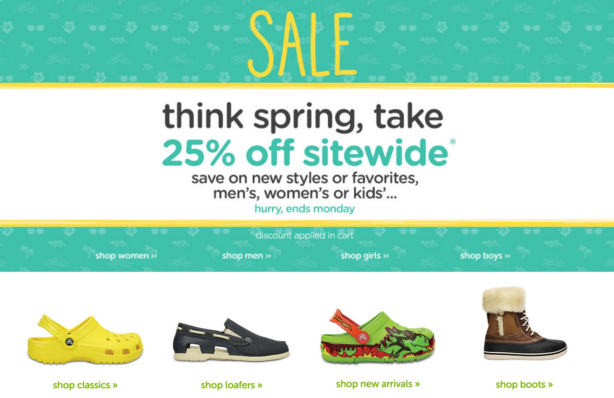 Crocs.com: 25% Off Sitewide