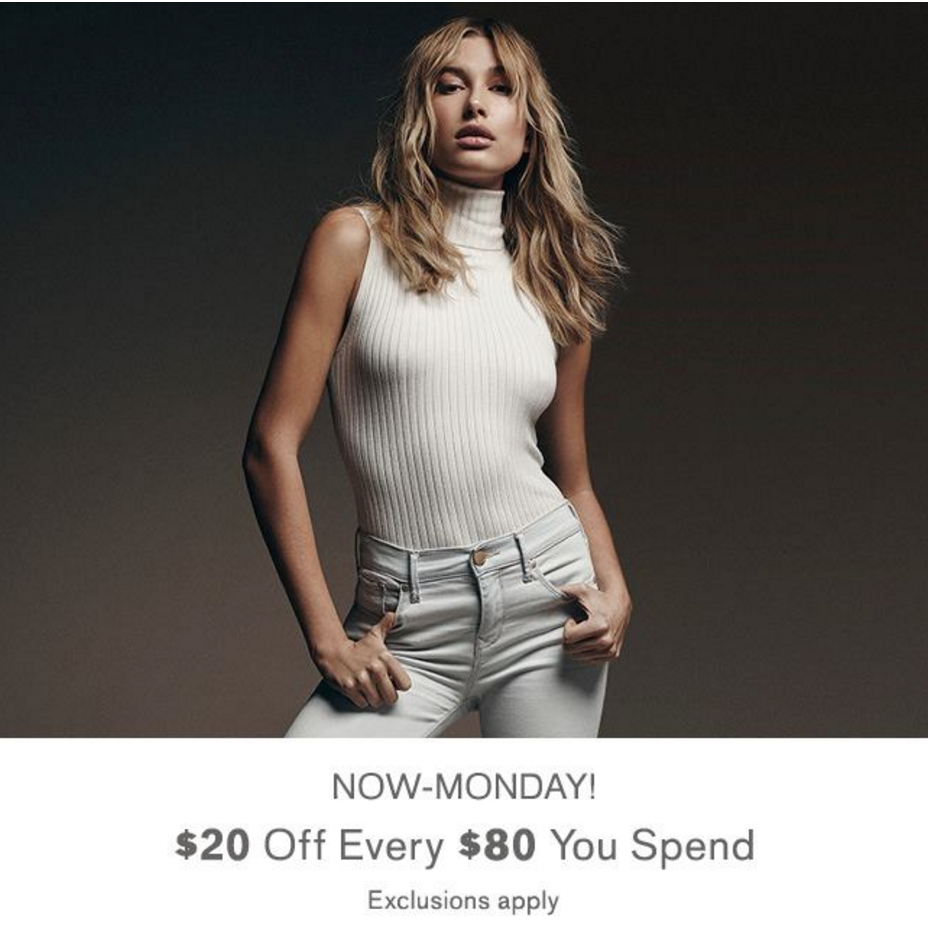 Express: 50% Off + Extra $20 Off Every $80 Spent!