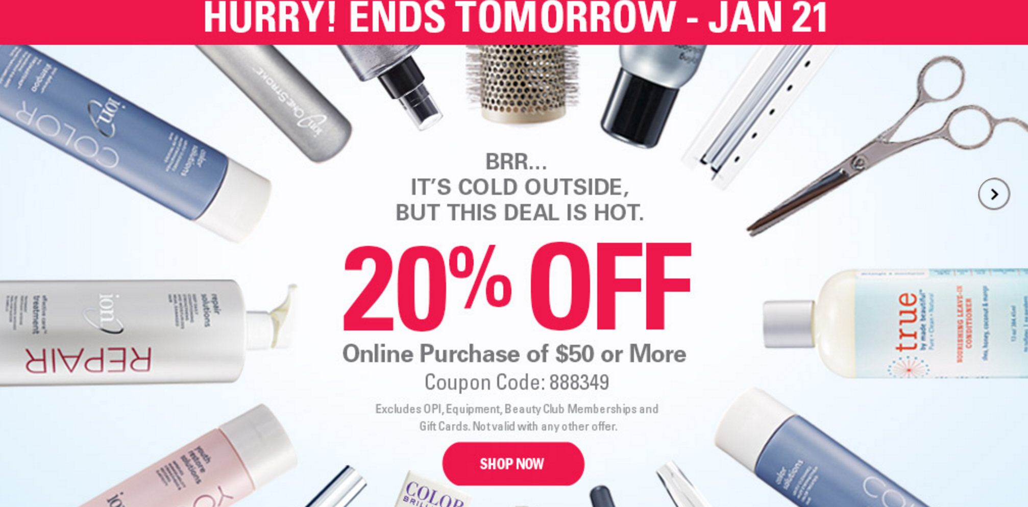 Sally Beauty: 20% Purchase Of $50 Or More!