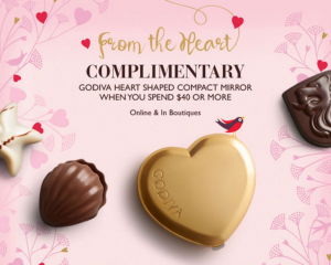 Godiva: Free Heart Shaped Compact Mirror w/Purchase!