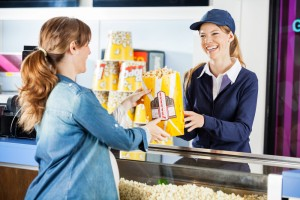 Overpriced concession stand snacks via shutterstock