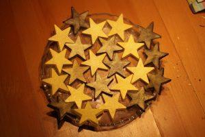 Star-shaped chocolates
