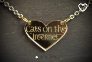 Cats on the Internet necklace