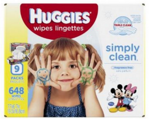 Huggies Simply Clean Baby Wipes 648 Ct. Only $8.32!