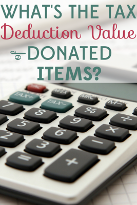 If you're donating items you might as well get a tax deduction! Find out how to determine the Fair Market Value of your donations.