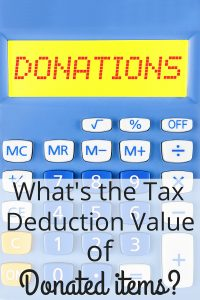 tax deduction value of donated items