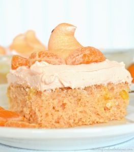 Orange Creamsicle Peeps Cake