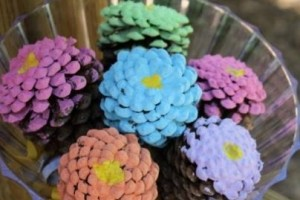 Pinecone flower bouquets