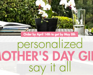 Bed Bath & Beyond: Personalized Mother's Day Gifts & Possible 20% Off Coupon