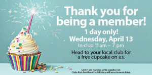 Get a FREE cupcake at Sam's Club today.