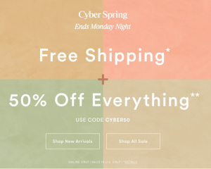 Ann Taylor: 50% Off Entire Purchase & FREE Shipping (Today Only!)