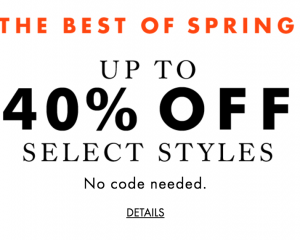 Banana Republic: 40% Off Spring Styles