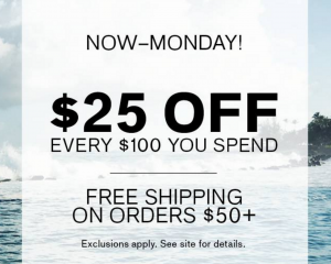 Express: $25 Off $100 Purchase & FREE Shipping!