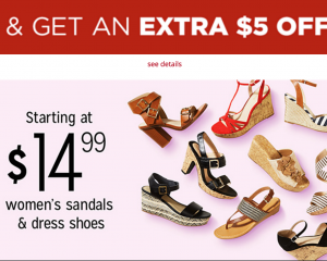 Kmart: $5 Off $25 Shoe Purchase