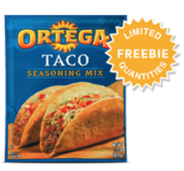 Score a FREE Ortega Taco Seasoning Packet today.