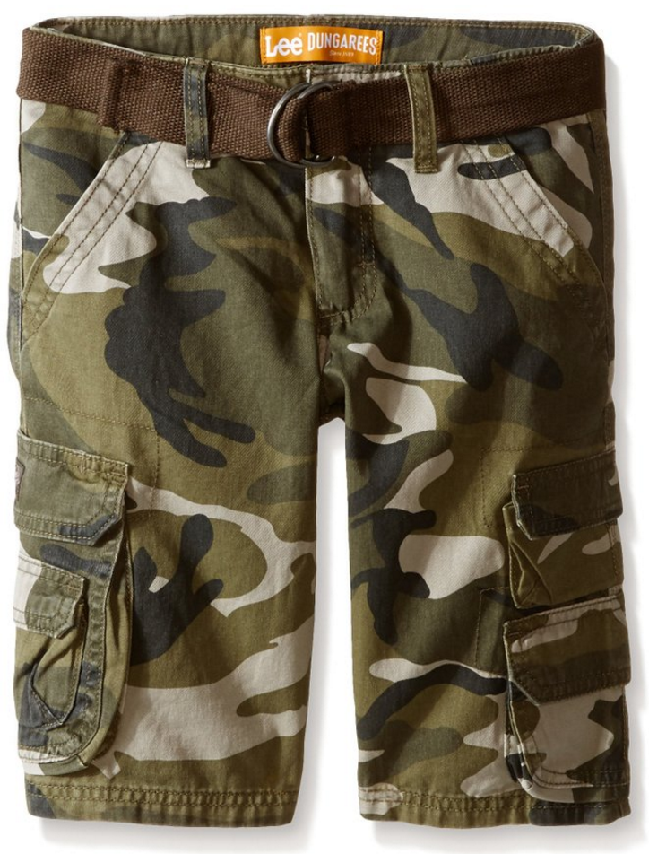 000ae8876f 60% Off Lee Shorts & More = Lee Boys' Dungarees Belted Wyoming Cargo Short  Only $14.40 (Reg. $36!)