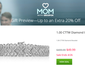 Groupon Mother's Day Sale: Extra 20% Off Select Goods Deals