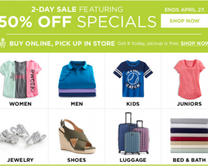 Kohl's: 50% Off Specials (Clothing, Furniture, Jewelry & More!