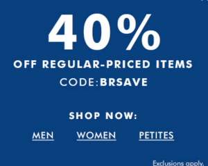 Banana Republic: 40% Off Sitewide