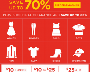 Kohl's: Up to 70% off Clearance + Doorbusters (Last Day!)