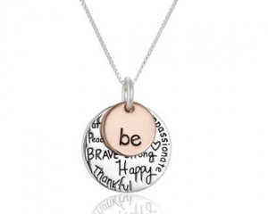 """Last Minute Jewelry Gifts for Mother's Day = Two-Tone Sterling Silver """"Be"""" Graffiti Charm Necklace Only $19.99 (Reg. $26.99!)"""