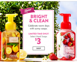 Bath & Body Works: $3 Hand Soaps + $6 Wallflowers 2-Pack Refills!