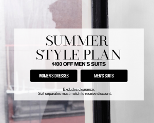 Express.com: $100 Off Men's Suits!
