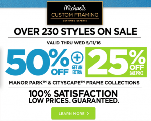 Michaels: 60% Off Frames & Decor + 40% Off Coupon!