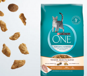 Get a FREE Purina One Tender Selects Cat Food sample today!