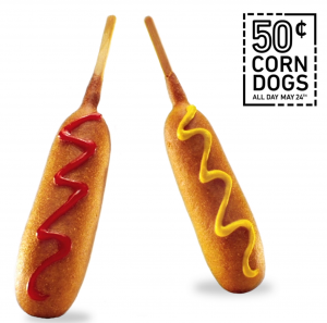 Snag 50¢ Corn Dogs at Sonic today! Yum!