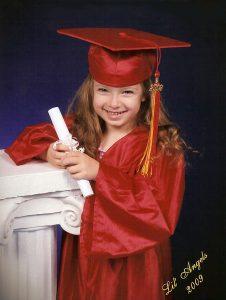 Callie Stein-Wayne preschool graduation photo