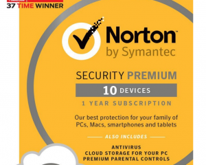 Norton Security Premium – 10 Devices [Download Code] Only $27.99 (Reg. $89.99!)