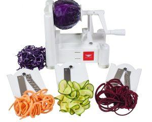 Paderno World Cuisine Tri-Blade Vegetable Spiral Slicer only $21.99!