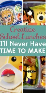 These creative school lunches are definitely Pinterest-worthy, but let's face it: I'll never have time to make them.
