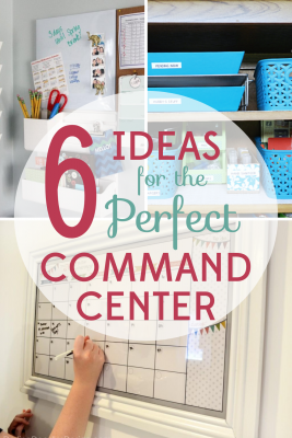 Even small spaces can get organized. These 6 fantastic ideas for the perfect family command center will calm the chaos of your home life.