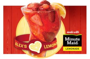 Freckled Lemonade and Alex's Lemonade Stand Foundation wristband